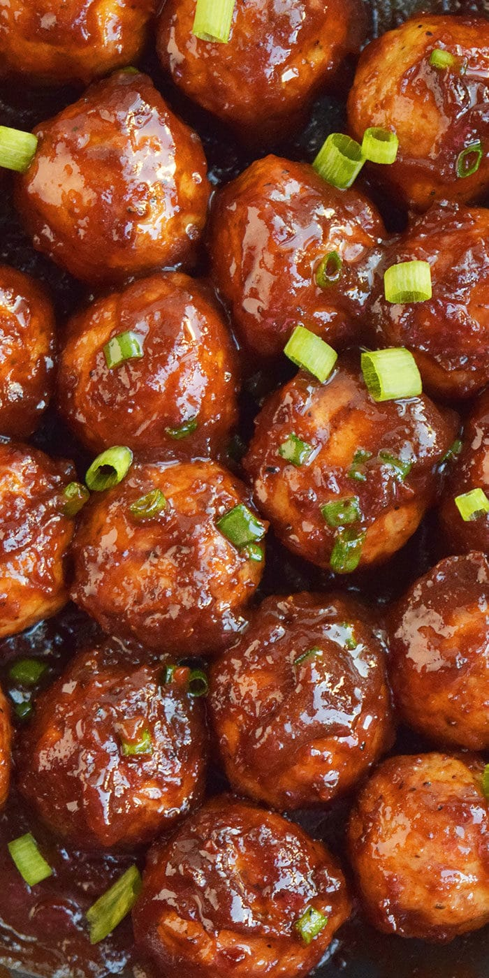 Sweet and Spicy Cocktail Meatballs with Coca Cola