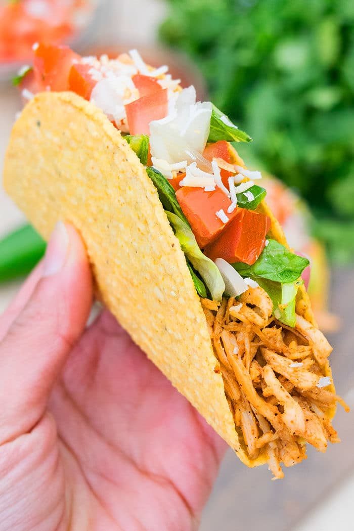 Pulled Chicken Tacos with Taco Seasoning