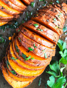 Easy Hasselback Sweet Potatoes Recipe