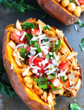 Mexican Chicken Stuffed Sweet Potatoes Recipe