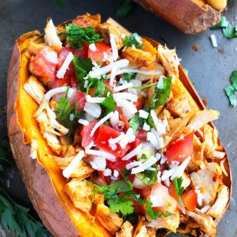 Mexican Chicken Stuffed Sweet Potatoes Recipe