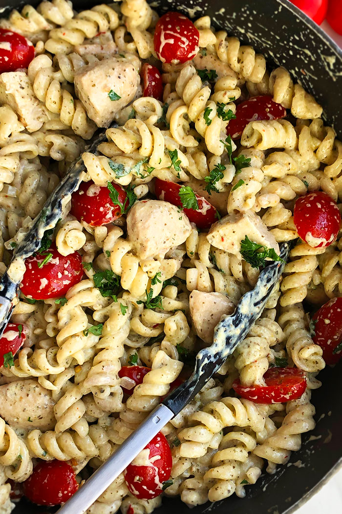 Easy Chicken Pesto Pasta Recipe