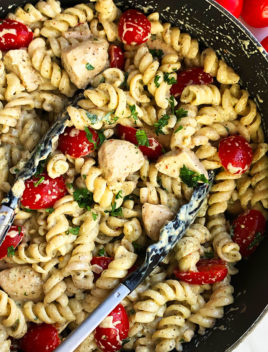 Easy Creamy Chicken Pesto Pasta Recipe