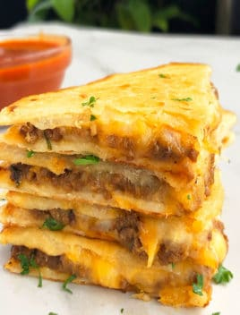 Easy Ground Beef Quesadilla Recipe