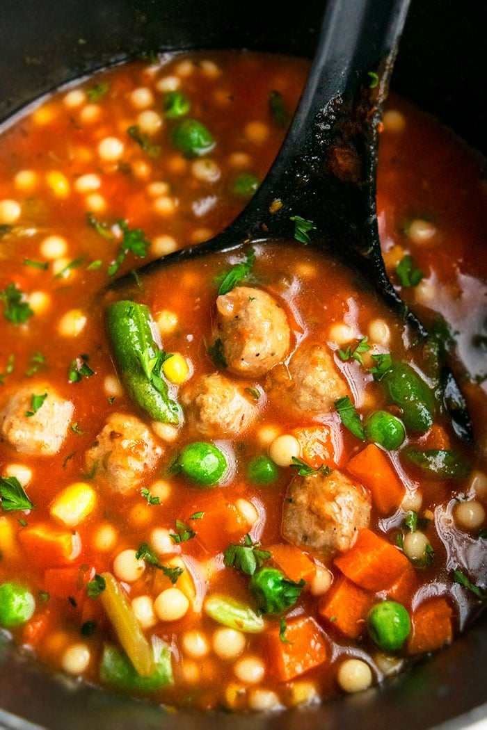 One Pot Meatball Soup
