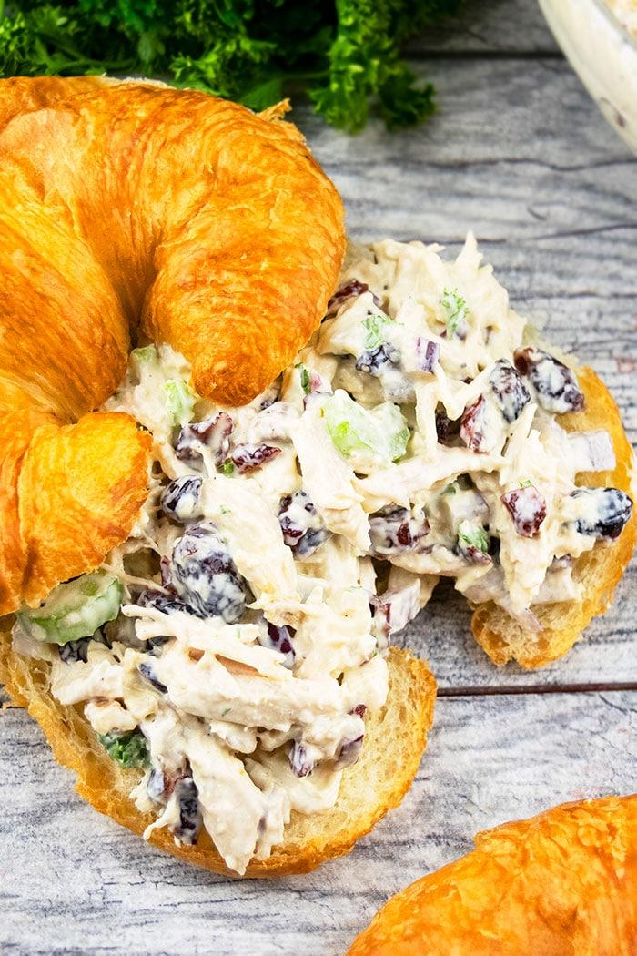 Creamy Cranberry Walnut Chicken Salad