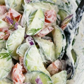 Creamy Cucumber Tomato Onion Salad Recipe