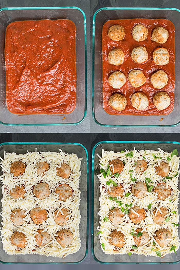 Step by Step Instruction Shots for Making Meatball Casserole