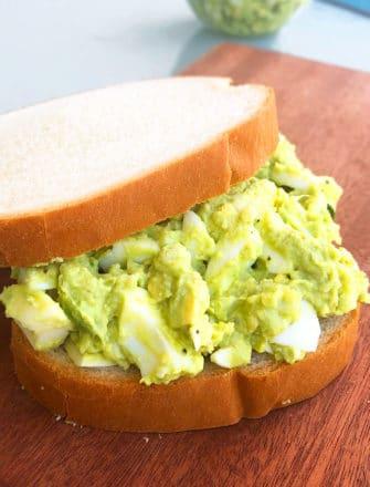 Homemade Avocado Egg Salad in Sandwich