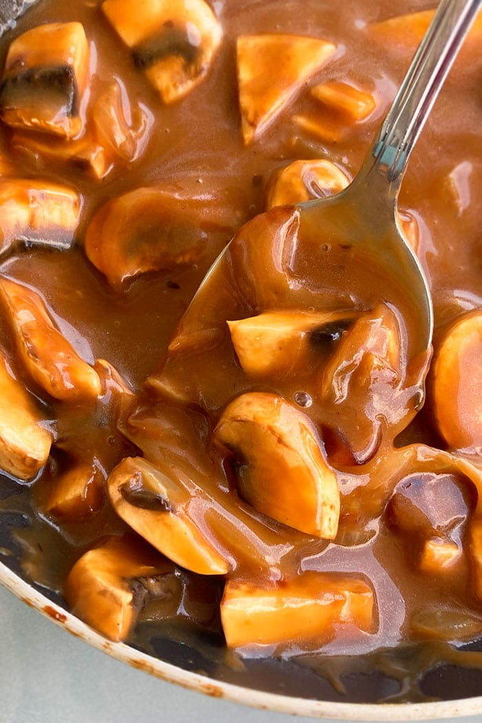 Spoonful of Easy Mushroom Gravy