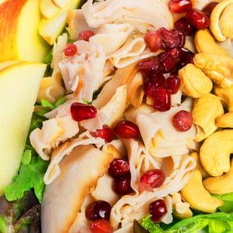 Harvest Fall Salad With Orange Vinaigrette- Closeup Shot