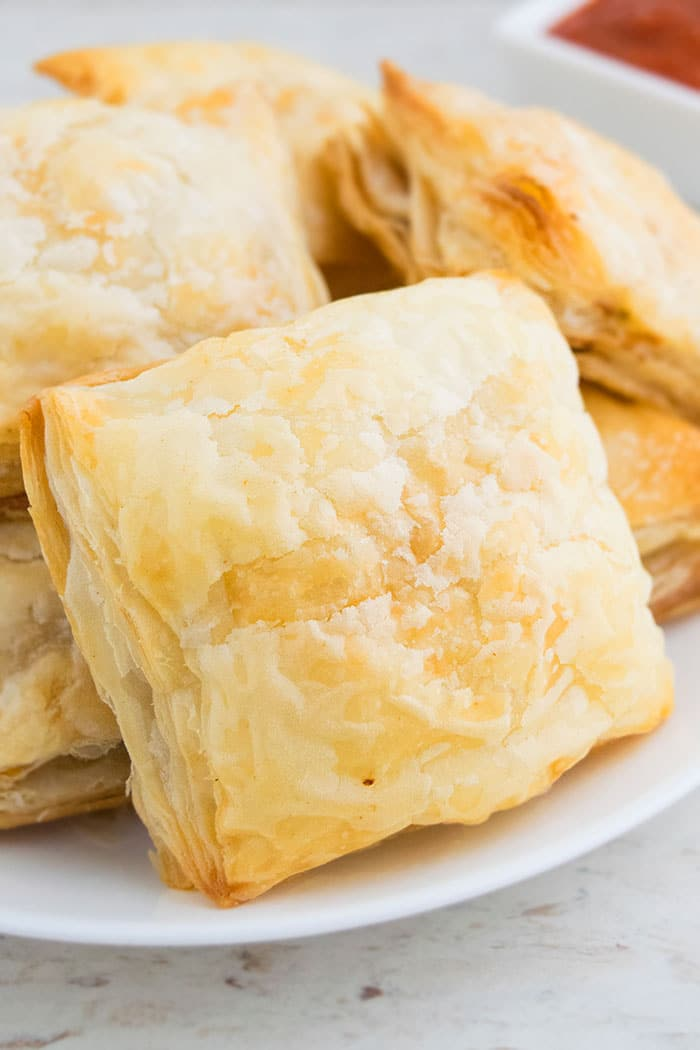 Chicken Parcels on White Plate