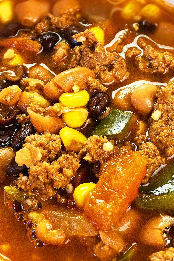 Closeup Shot of Mexican Soup