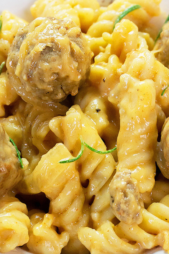 Closeup Shot of Creamy Pasta